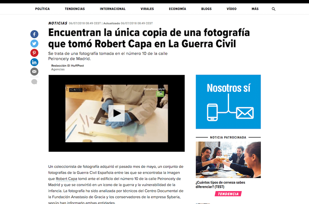 SYBARIA en el HUFFINGTON POST